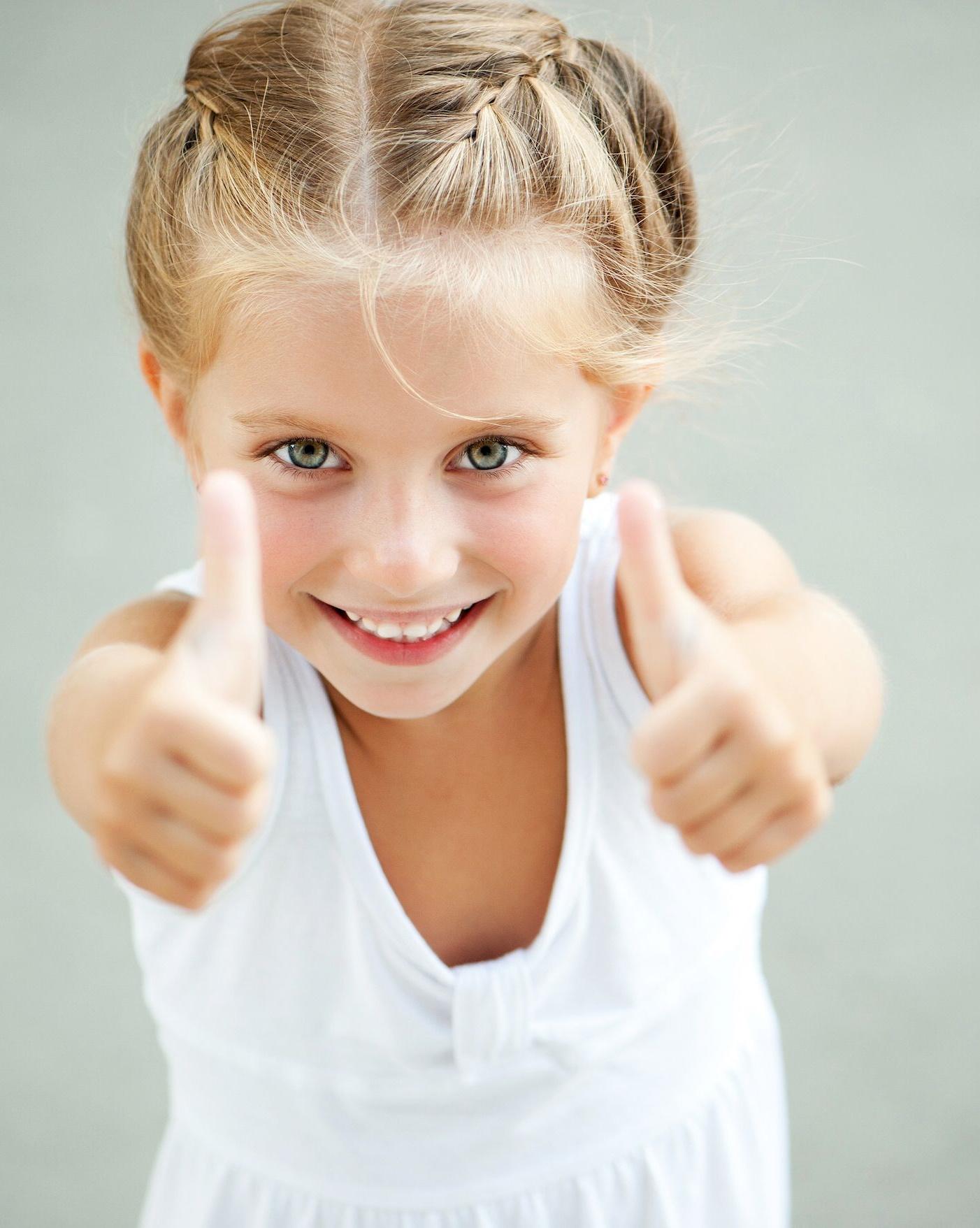 Imagen de una niña sonriendo
